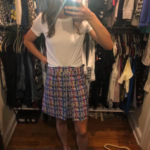 NWOT Multi Print Window Pane Skirt Size 2